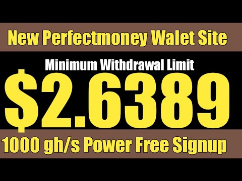 New Bitcoin Mining Website 2020   Free Cloud Mining Website 2020   Perfectmoney Walet   Ahmad Online