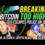 BITCOIN BULLRUN PANIC!!🚨 ETHEREUM HUGE PRICE POTENTIAL!!!! CRYPTO CEO ESCAPES FEDS ON JETSKI!!!
