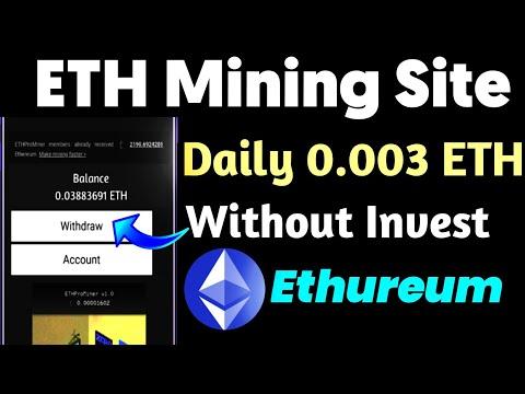 Ethprominer.com Legit/Scam | Daily 0.003 Eth Mining | New Free Ethureum Mining Site