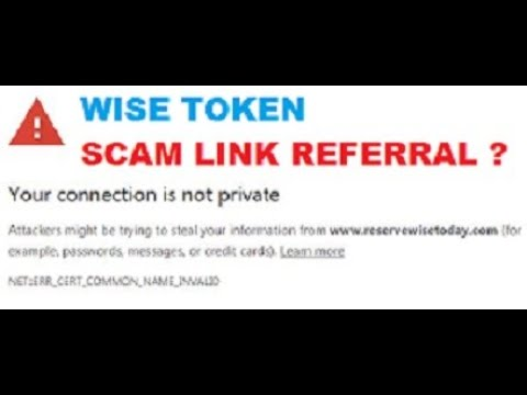 CRYPTO BEEF | CRYPTO TALK SCAM WISE TOKEN REFERRAL LINK ?| CAREFUL DOUBLE CHECK LINKS FROM YOUTUBERS