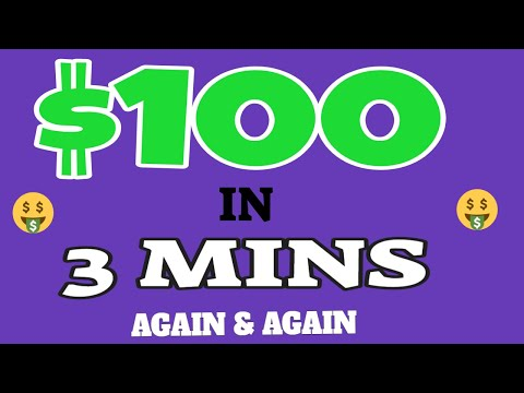 Earn $100 In 3 Minutes Over & Over Again ! (Make Money Online)