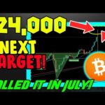 $24,000 IS THE NEXT BITCOIN MOVE, AND THIS IS WHY!