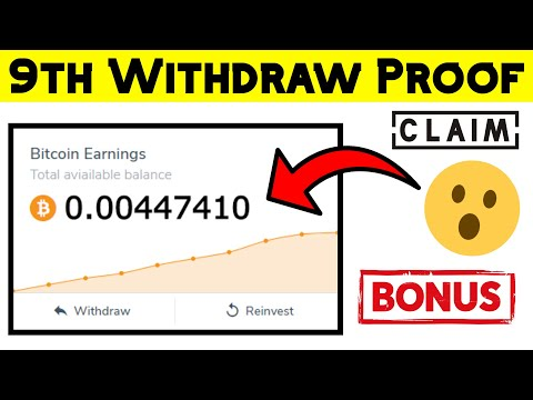 Free Bitcoin Mining Site - 9th Withdraw Payment Proof - 50 Gh/s Bonus