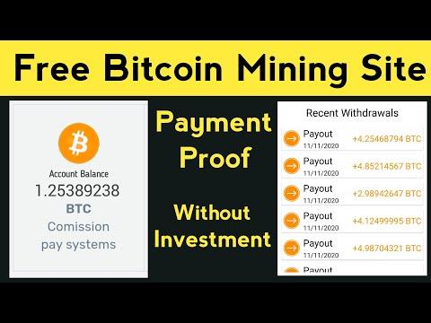 New Free Bitcoin Mining Site | Free Bitcoin Earning Site | Without Investment, Bitcoin, Bitcoin News
