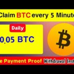 Claim BTC on Every Minute | New Bitcoin Mining Site | Instant Payout | #Bitcoinmining