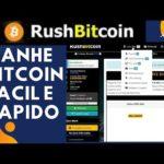 💨RUSHBITCOIN Site para ganhar bitcoin rapido e facil | faucet, ptc, jobs, shortlink e mais veja