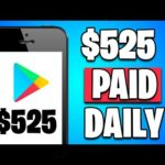 Earn $525 PER DAY From GOOGLE PLAY STORE! [Make Money Online]