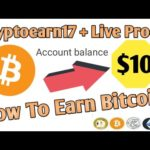 Cryptoearn17 live withdraw proof $10 ! Best bitcoin earning site ! How to earn online money+Giveaway