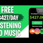 Earn $427 PER DAY LISTENING TO MUSIC (Make Money Online)