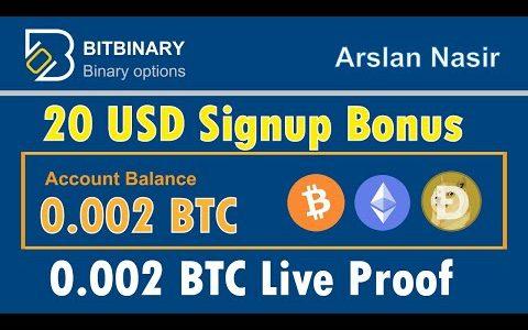 BitBinary – Get Free Trade Bots Free Signup Bonus Legit Or Scam Live Proof 0.002 BTC Urdu Hindi