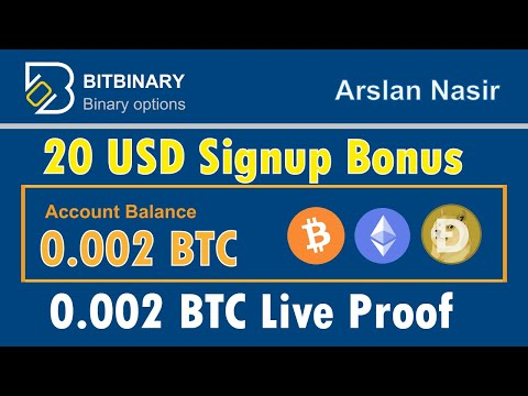 BitBinary - Get Free Trade Bots Free Signup Bonus Legit Or Scam Live Proof 0.002 BTC Urdu Hindi