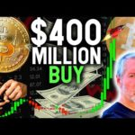 SHOCKING $400M BITCOIN BUY FROM NASDAQ COMPANY! + Altcoin News