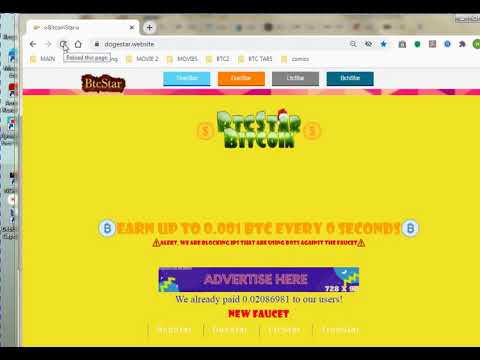BitCoinStar / Make Money / Make Bitcoin/ Best Bitcoin Faucet / Captcha / Home Based Job