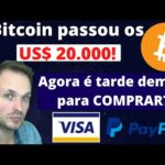 Bitcoin passa os 20k! Agora é tarde demais para COMPRAR?