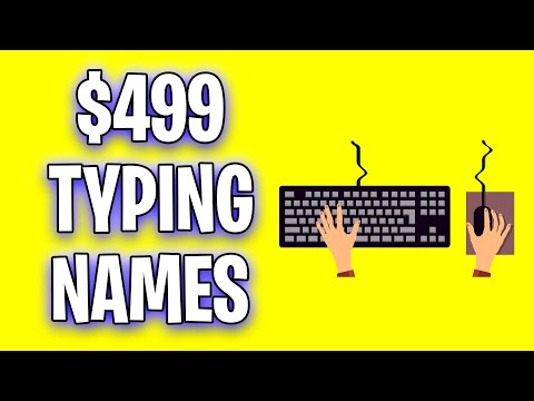 Earn $499 On Autopilot For Typing Names (Make Money Online)