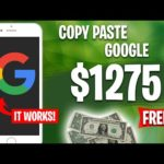 Earn $1275 From Google Copy & Paste   Make Money Online