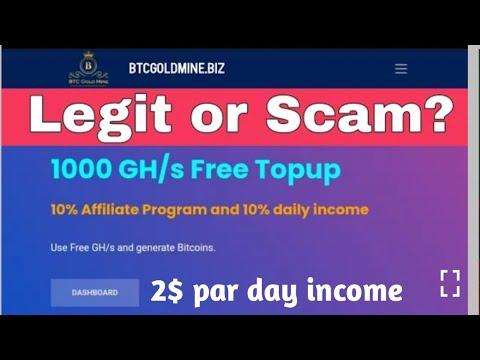 Btcgoldmine.Biz Scam or Legit? Free Bitcoin Mining Website 2020 | Full Review