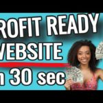 MAKE MONEY ONLINE 2021 BUILD A PROFIT READY WEBSITE in 30 SEC PLUS FREE Affiliate Marketing Course
