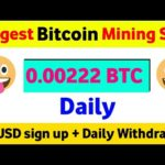 New Bitcoin Mining Site 2021, Bitcoin Mining | 0.02 BTC sign up Bonus | #Bitcoinmining