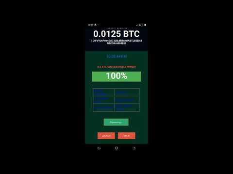 Bitcoin Android  Miner 2021 Latest Bitcoin Mining App for android  iPhone..