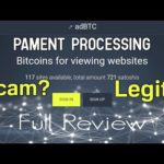 Adbtc.Top Scam or Legit? | Free 0.00012531 Btc Withdraw Pending? Bitcoin Earn | Full Review