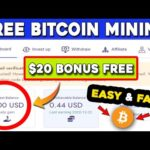 OMG😲 New Bitcoin Mining Site 2021 | $20 Signup Bonus Free | Free Bitcoin Mining | Free Mining Sites