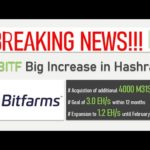 BREAKING NEWS!!! BITFARMS increases its Bitcoin mining hashrate by 250 PH until Feb. 2021!