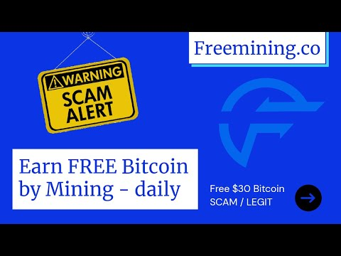 Free Bitcoin Mining Site | Daily $10 Bitcoin| Freemining.co Scam or legit | Earn Free Bitcoin Daily