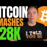BITCOIN PRICE BLASTS PAST $28K AS MAX KEISER PREDICTS!! BTC MARKET CAP NOW ABOVE HALF A TRILLION!!