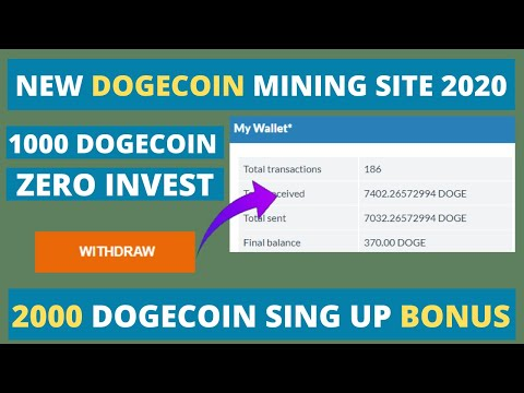 new bitcoin mining site 2020 without investment | get 1000Gh/s free | dogeminning.com