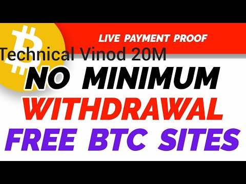 Free Bitcoin! No Minimum payout! With payment proof, Instand withdraw, Earning Free Bitcoin Website!