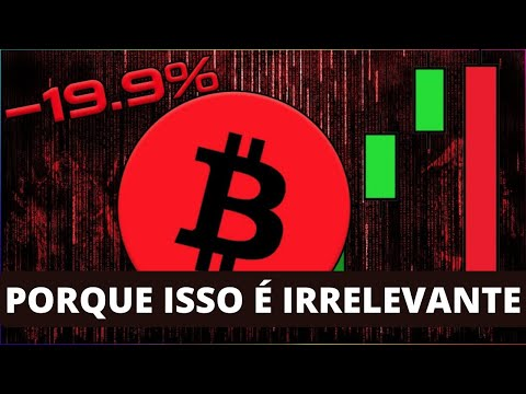 Queda de preço de Bitcoin é IRRELEVANTE | Veja o Porquê!