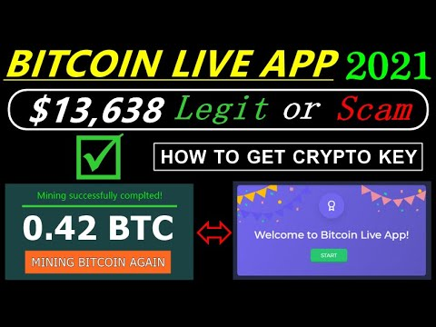 BITCOIN LIVE APP 2021 UPDATE I LEGIT OR SCAM I 0.42 BTC LIVE PAYMENT PROOF I HOW TO GET CRYPTO KEY