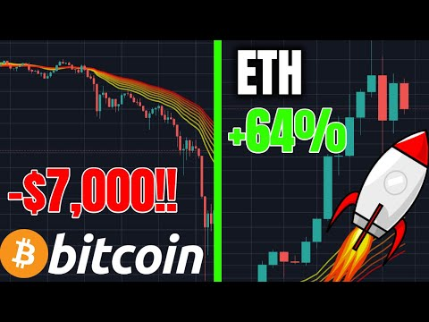 BITCOIN DUMPED $7,000!!! ETH + Altcoins Pumping!! What Now?? (Cryptocurrency Trading Analysis News)