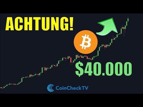 BITCOIN erreicht $40.000 USD!! [ABER erste Anzeichen für eine KORREKTUR?]