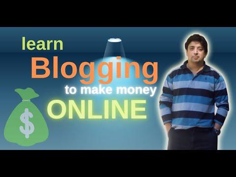 Learn blogging to make money online | Internet-based business