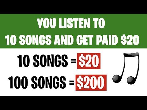 Make $200 FOR FREE LISTENING TO MUSIC (Make Money Online 2021)