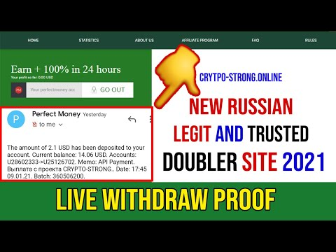 Crypto-strong.online Withdraw Proof   New Doubler Site   Legit or Scam   Again Live Deposit Proof