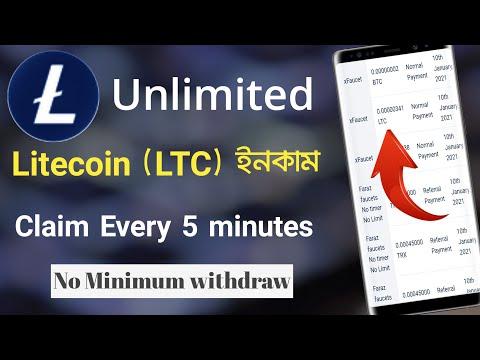Earn Free Litecoin by xfaucet Earn Bangla Tutorial Earn Money Online