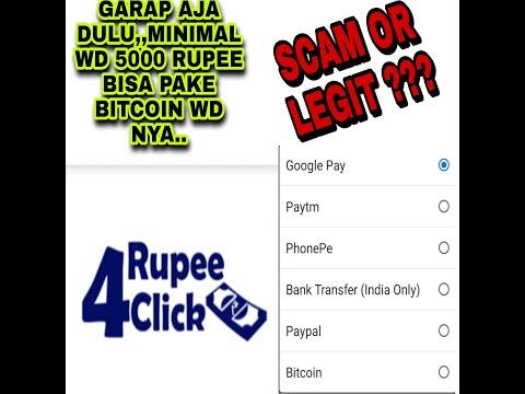 RUPEE 4 CLICK SCAM OR LEGIT 2021 | WITHDRAWAL BISA PAKAI BITCOIN