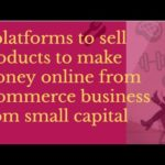 8  ecommerce business platforms to make money online  from small capital