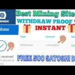 Bitcoinhash Payment Proof   New Free Bitcoin Mining Website 2021  Instant Withdraw Earn Free Bitcoin