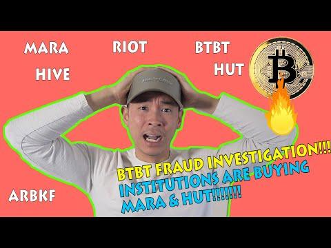 Bitcoin Mining Stocks [UPDATE] | BTBT FRAUD & INSTITUTIONS are buying MARA & HUT! - HIVE, RIOT, MARA