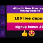 vilton.ltd 👍 New Free crypto mining website  || 10$ Live Deposit || signup bonus 3$ 😍