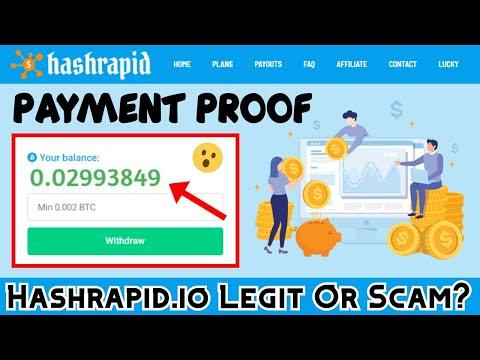 2021 IS HASHRAPID SCAM OR LEGIT? | Honest review of hashrapid.io bitcoin mining site 2021