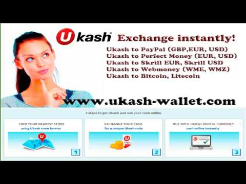 Exchange Ukash vouchers to PayPal, Perfect Money, Skrill, Bitcoin, Webmoney online 24/7.