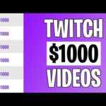 Earn $1000+ From Twitch TV Videos (Make Money Online 2021)