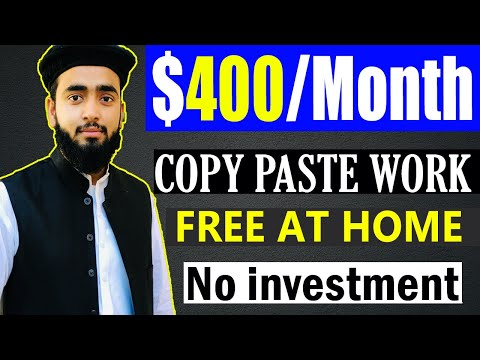 How to Earn Money Online without any skills in 2021 || Copy Paste work from Home on Mobile  & Laptop