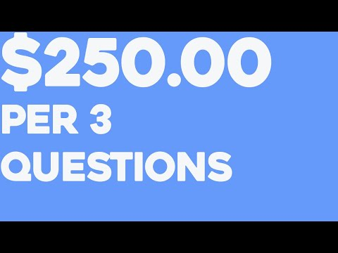 $250.00+ By Asking 3 Questions! ~ COPY & PASTE (Make Money Online)