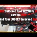 5600XT Crypto Mining Unlocked Bios/ 42.2MH 65w I Dont Think So